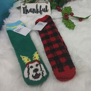 Old Navy Woman Cozy Socks - Set of 2 One Size